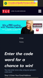 """Discovery Communications – Long Island Medium – Win the following (the """"Grand Prize"""") a trip for two (2) to New York"""