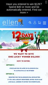 Ellen Shop – 12 Days $12k – Win the following A onetime payment of $12000.00.
