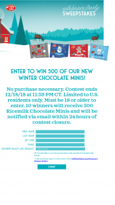 Enjoy Life Foods – Winter Chocolate Giveaway Sweepstakes