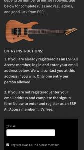 Esp Guitars – M-400m Sweepstakes