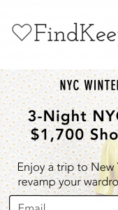 Findkeeplove – 3-night Nyc Getaway & $1700 Shopping Spree – Win consisting of all the following ??