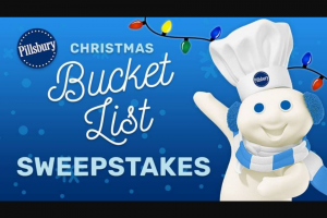 General Mills – Pillsbury Christmas Bucket List – Win Walmart gift card
