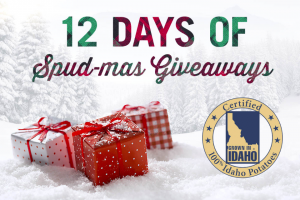 Idaho Potato – 12 Days Of Spud-Mas Giveaway – Win 1 15 lb bag of Idaho potatoes – ARV $510.