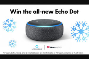 Iheart Media – Iheartradio & Amazon Echo Dot Giveaway – Win one (1) Amazon Echo Dot