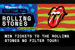 Iheart – Rolling Stones No Filter Tour Win The Shirt Off Mick's Back – Win and one eligible guest to attend a tour date of their choice on The Rolling Stones No Filter Tour