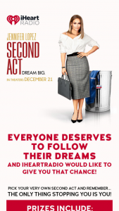 Iheart – Second Act Sweepstakes