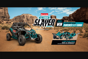 Makita – All-Terain Slayer – Win First Place Prizes will be awarded