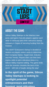 Mattel – Silicon Valley Startups Contest – Limited Read The Rules – Win these Official Rules (d) if Sponsor determines that he/she failed to comply with these Official Rules in any way or (e) if he/she refuses to or cannot accept the prize for any reason