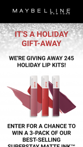 Maybelline – Superstay Matte Ink Liquid Lipstick – Win the Maybelline Superstay Matte Ink™ Liquid Lipstick 3-Pack