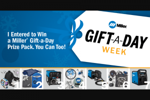 Miller Electric – Seven Days Of Giveaways Sweepstakes