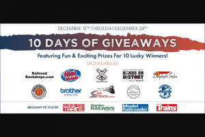"Model Railroader – 10 Days Of Giveaways – Win (1) backdrop of your choice up to size 36"" X 144"" from stock sizes from RailroadBackdropscom"