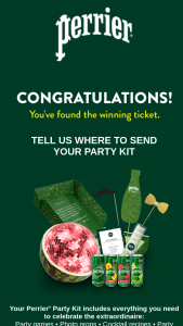 Nestlé Waters – Perrier Your Party Sweepstakes