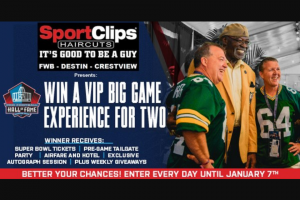 Nwf Daily News – Vip Big Game Experience Sweepstakes