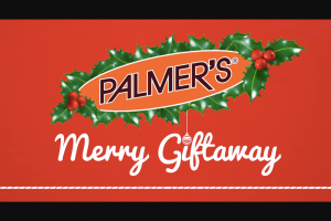 Palmer's – Merry Giftaway Sweepstakes