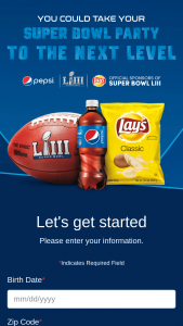 Pepsi – Toss The Coin – Win consisting of a catered party for winner and 9 guests (10 people total) to be held at the winner's residence