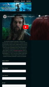 Pinkberry – Aquaman – Win one private hometown screening of the movie Aquaman for the Winner and up to 99 guests with an ARV of $1500.00.