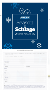 Schlage – Season Of Schlage – Win (1) a $2000 VISA Giftcard  Connect Zigbee & Amazon Cloud Cam Bundle