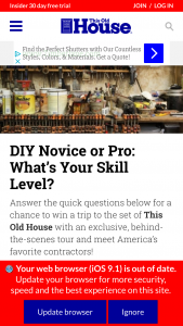 This Old House – What's Your Skill Level Trip To Set – Win is one (1) Grand Prize available to be won consisting of a trip for two (2) winner and one (1) guest to the set of This Old House