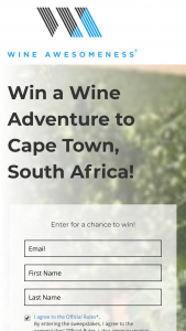 Wine Awesomeness – Wine Adventure To South Africa Sweepstakes