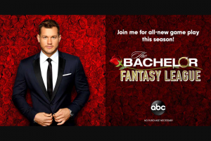 ABC – Bachelor Fantasy League – Win a 3-day/2-night trip for two to Los Angeles