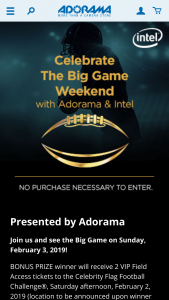 Adorama – Big Game Weekend – Win a Fantasy Fan Pack that includes a regulation size football and a sports water bottle