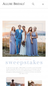 Allure Bridals – Ultimate Sweeptakes Sweepstakes