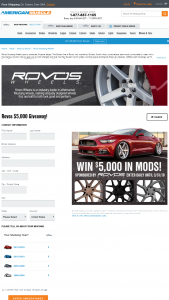 American Muscle – $5000 Rovos Giveaway – Win $5000.00 in credit to use for the purchase of any parts and accessories