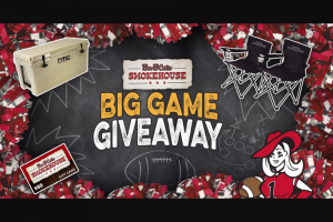 Bar-B-Cutie – Smokehouse – Win cooler (assortment) Sponsor gifts (1) $50 Bar-B-Cutie SmokeHouse Gift Card (2) Bar-B-Cutie branded lawn chairs