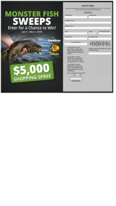 Bass Pro Shops And Cabela's And Outdoorchannel – Monster Fish – Win Bass Pro Shops or Cabela's shopping spree