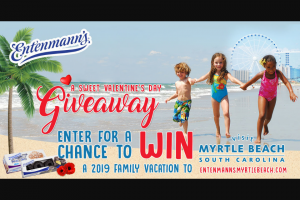 Bimbo Bakeries – Entenmann's Visit Myrtle Beach – Win a trip that includes three (3) nights