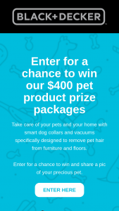 Blackdecker – Pet Product Giveaway Sweepstakes