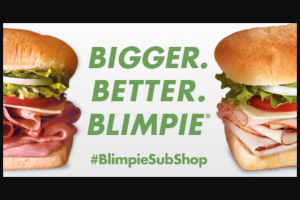 Blimpie – Great American Sub Tour – Win First Prize Winner will be randomly selected