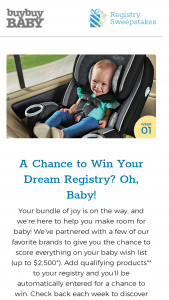 Buybuy Baby – Registry – Win in buybuy BABY Gift Cards