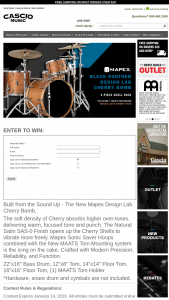 Cascio – Mapex Black Panther Design Lab Drums Sweepstakes