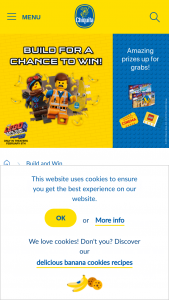 Chiquita – Lego Movie 2 The Second Part – Win as its approximate retail value $20 USD payable by check