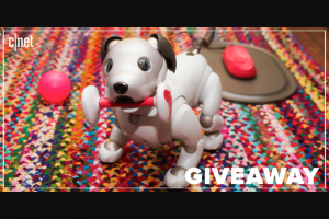 CNET – First Litter Edition – Win of one (1) previously unboxed Aibo First Litter Edition unit