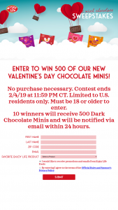Enjoy Life Foods – Valentine's Day Chocolate Giveaway Sweepstakes