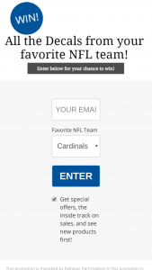 Fathead – Nfl Team Decal Sweepstakes
