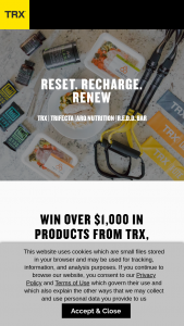 Fitness Anywhere – Reset Recharge Renew Giveaway – Win one (1) TRX Home2 System