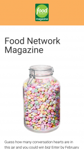 Food Network Magazine – January/february 2019 Who's Counting Contest – Win a $500 check (Total ARV $500).
