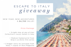 Gray Malin – Escape To Italy Giveaway Sweepstakes