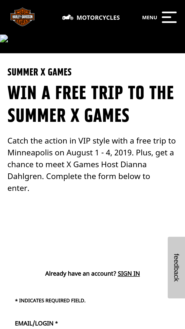 Harley-Davidson – Hooligan X Games – Win for two to Mi