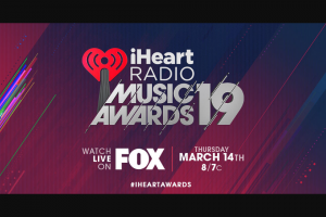 Iheart – Trip To Our 2019 Iheartradio Music Awards Voting Sweepstakes