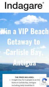 Indagare – Vip Beach Getaway – Win 3-night stay for 2 people in an Ocean Suite at Carlisle Bay Resort