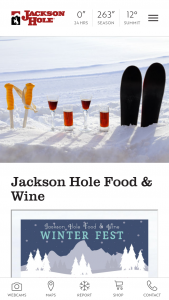 Jackson Hole – Food & Wine – Win Winner must book trip by February 17 2019 or the prize will be void
