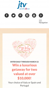 Jewelry Television – Jtv's Ooh La Luxe Getaway – Win any other form of compensation if actual travel costs are less than the estimate made in these Official Rules