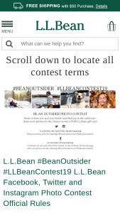 L L Bean – #beanoutsider #llbeancontest19 Contest – Social Media – Win (1) $100 LLBean Gift Card