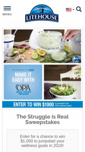 "Litehouse – ""the Struggle Is Real"" – Win $1000 VISA Gift"