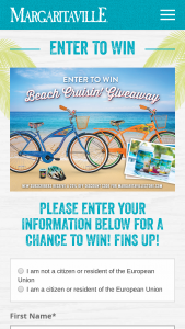 Margaritaville – Beach Cruisin' Giveaway Sweepstakes