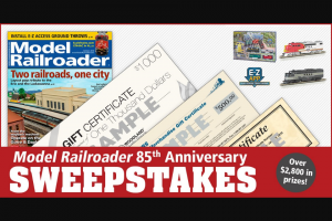 Model Railroader – 85th Anniversary – Win (1) $1000 Gift Certificate on behalf of Woodland Scenics